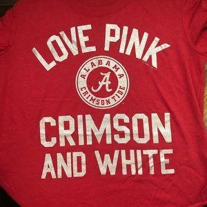NWOT Pink University of Alabama Glitter Tee